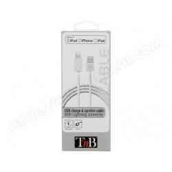 Câble USB / lightning 1m blanc TNB