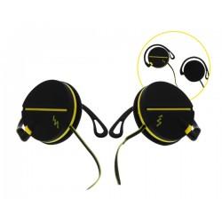 Casque clip noir/jaune SPORT CLIP - TNB