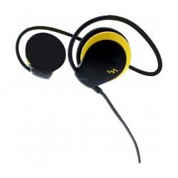 Casque tour de cou flexible + kit piéton noir/jaune SPORT PERFORMER
