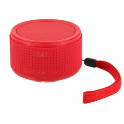 Enceinte Bluetooth mono 3W+ micro & câble auxiliaire - rouge TNB