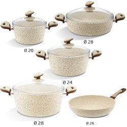 SET 9 PCS ULTRA GRAND  (GRIS / Beige / bordeau) BONERA
