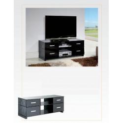 TABLE TV NOIR/ROUGE POSABLE
