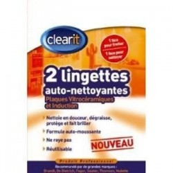 LINGETTES NETTOYANTES VICTRO & INDUCTION CLEARIT