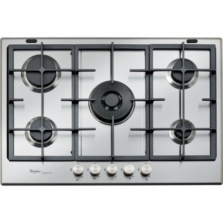 table de cuisson ixelium 75 cm 5 feux a gaz whirlpool - boutique