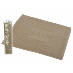 TAPIS SALLE DE BAIN BEIGE 100% COTON