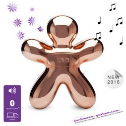 DIFFUSEUR AVEC SPEAKER BLUETOOTH GEORGE Full Chrome Pink Gold( 0903)