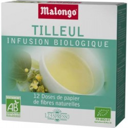 LOT DE 12 DOSETTES INFUSION TILLEUL MALONGO